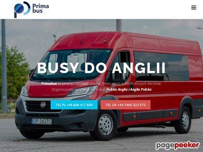 Przewozy osób z Polski do Anglii