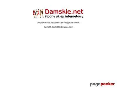 Modne bluzki i sukienki online Damskie.net