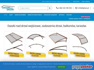 Daszki nad drzwi z poliwęglanu - TPLAST