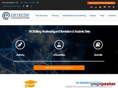 Ecorrector tłumaczenia bez błędów