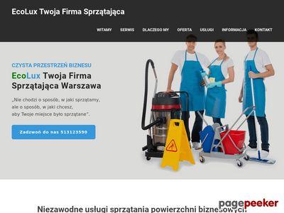 ECOLUX pranie dywanów, wykładzin, tapicerki Warszawa