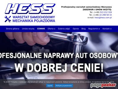 hess.com.pl Warsztat 24 h Warszawa