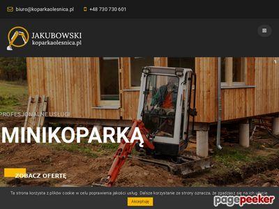 Jakubowski koparka Oleśnica - roboty ziemne w Oleśnicy