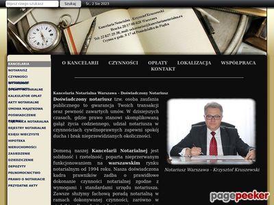 Notariusz Krzysztof Kruszewski - Warszawa Centrum