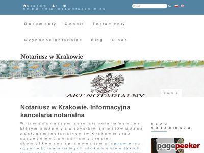 Notariusz w Krakowie: Serwis Informacyjny