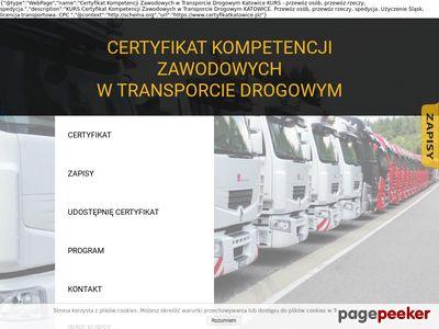Certyfikat Kompetencji Zawodowych Katowice KURS