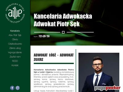 Adwokat Łódź - Adw. Piotr Sęk
