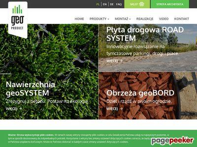 GeoProduct.pl polskie obrzeża trawnikowe i ekokratka
