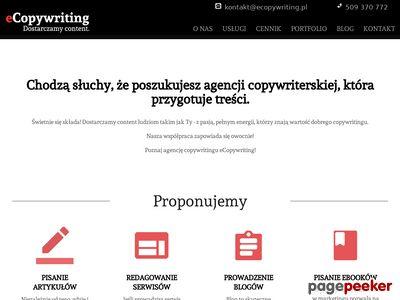 eCopywriting.pl Pisanie tekstów