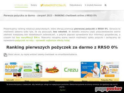Darmopożyczka.pl - ranking chwilówek bez odsetek