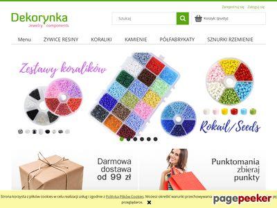 Dekorynka.pl - zawieszki, koraliki, półfabrykaty do biżuterii